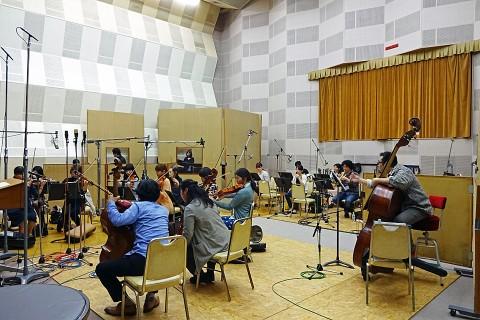 レコーディングスタジオ内の様子。